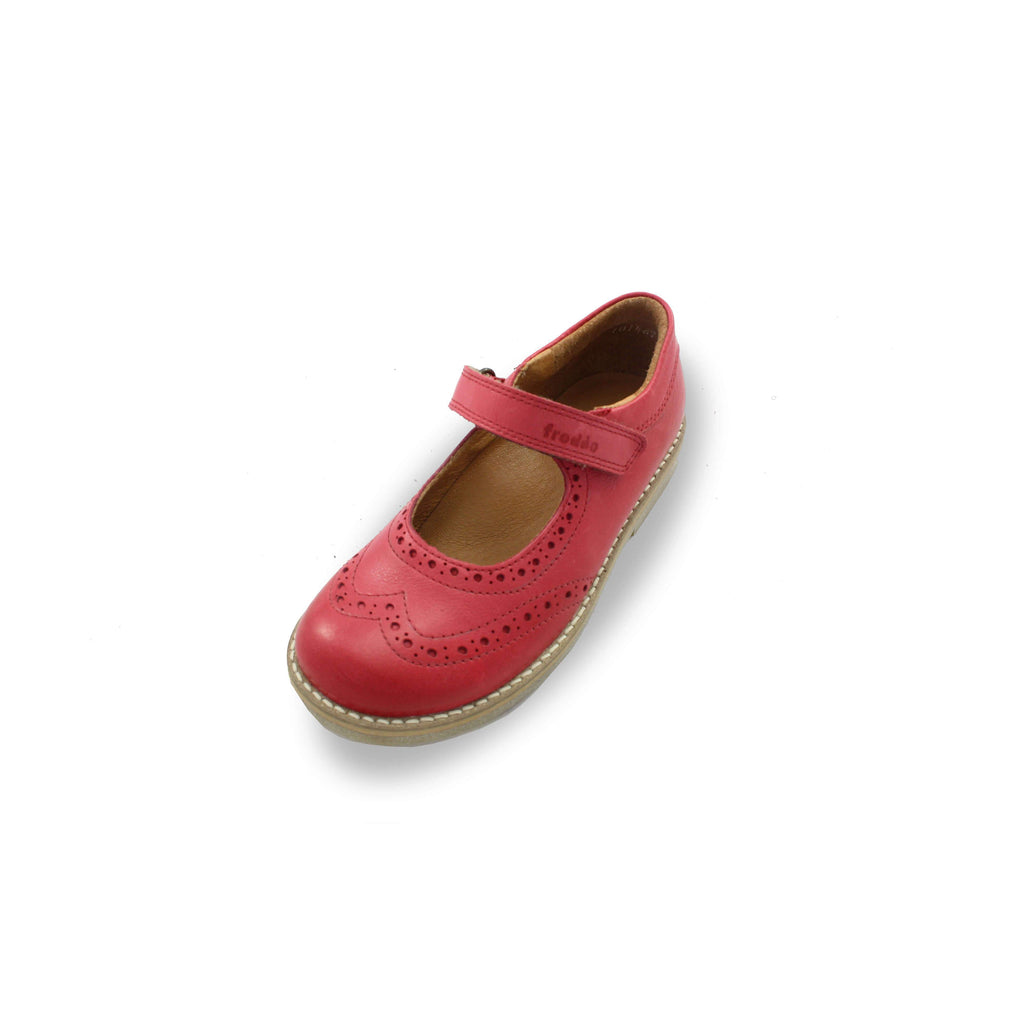 Froddo Red Brogue Mary-Jane Shoes. Cooshoo kids shoes.