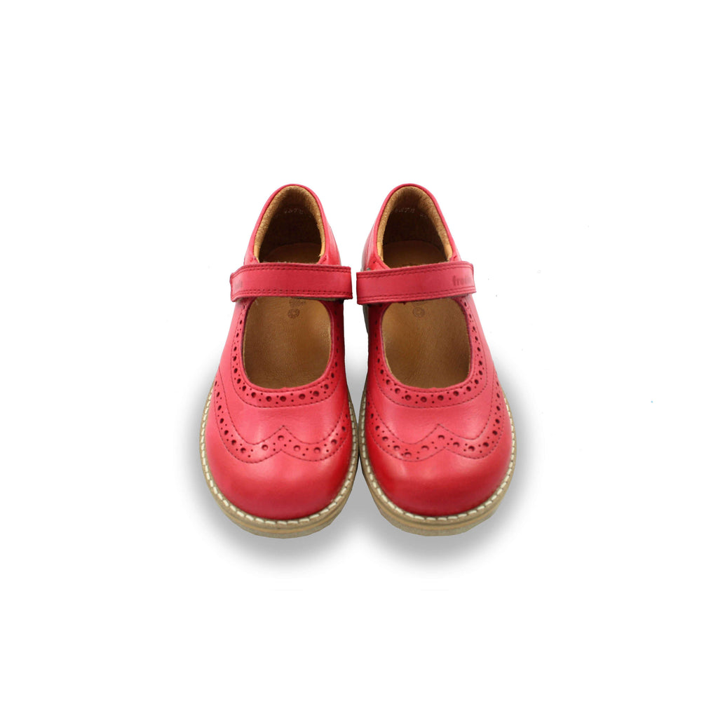 Pair of Froddo Red Brogue Mary-Jane Shoes. Cooshoo kids shoes.