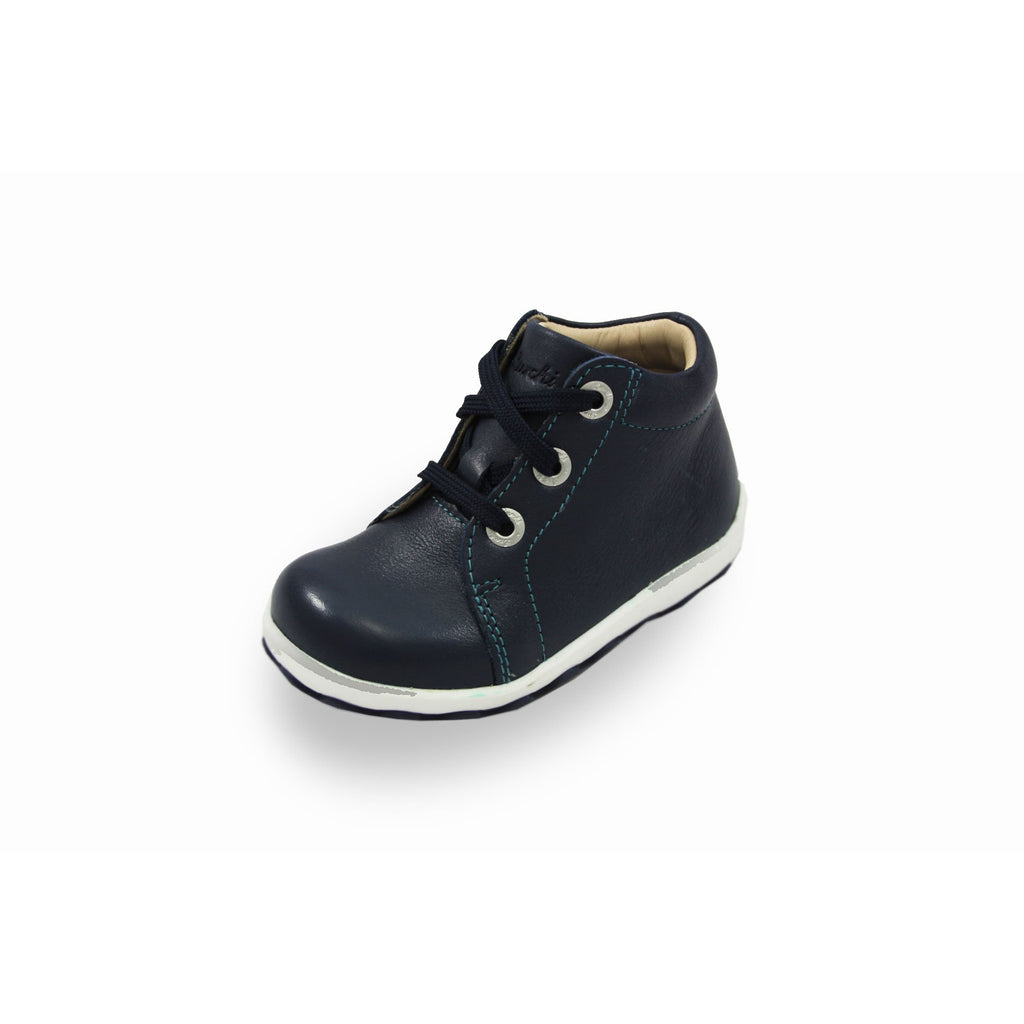 Lurchi Ipsy Navy Lace-up Low-top Ankle Kids Boots. From Cooshoo fitted children's shoes.