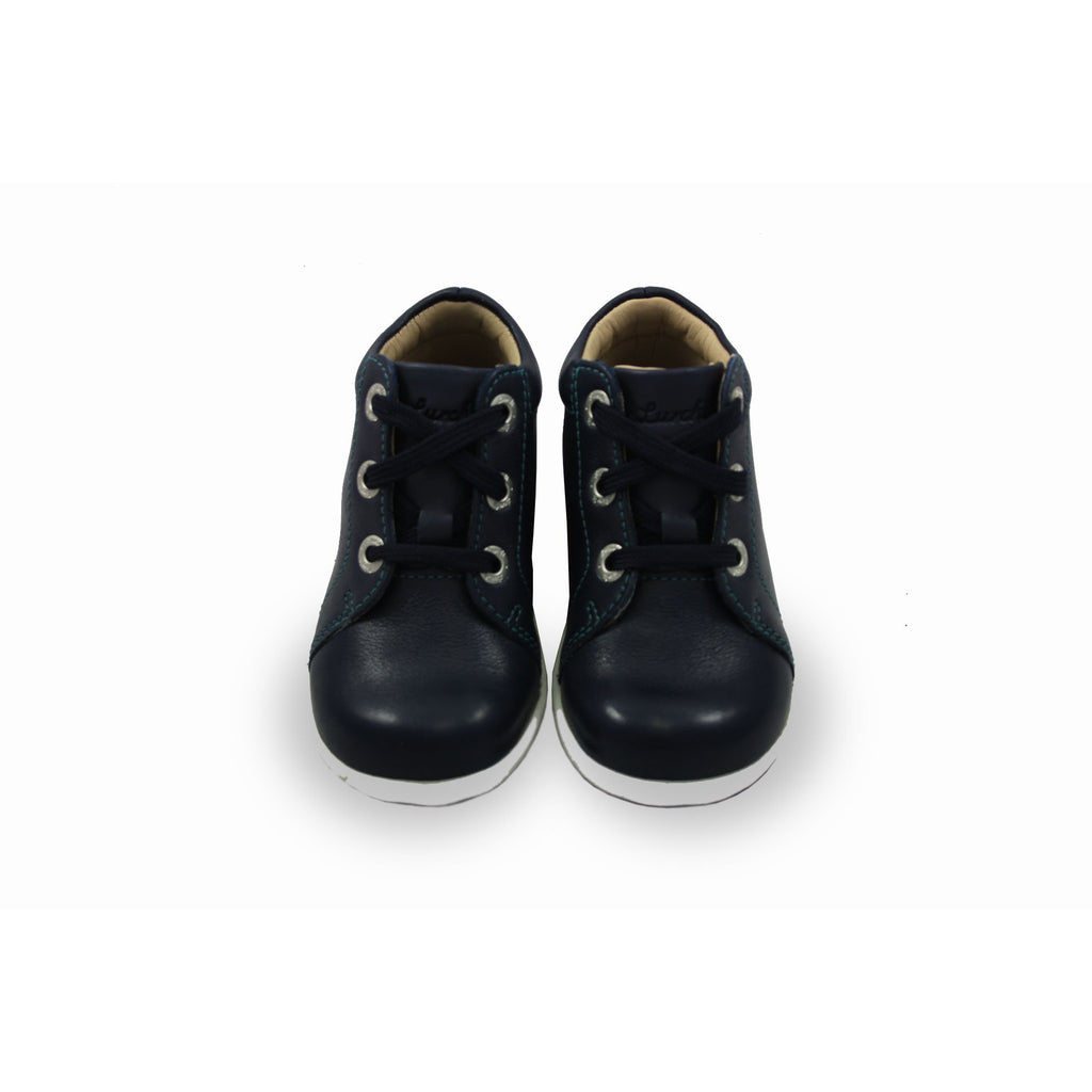 Pair of Lurchi Ipsy Navy Lace-up Low-top Ankle Kids Boots. From Cooshoo fitted children's shoes.