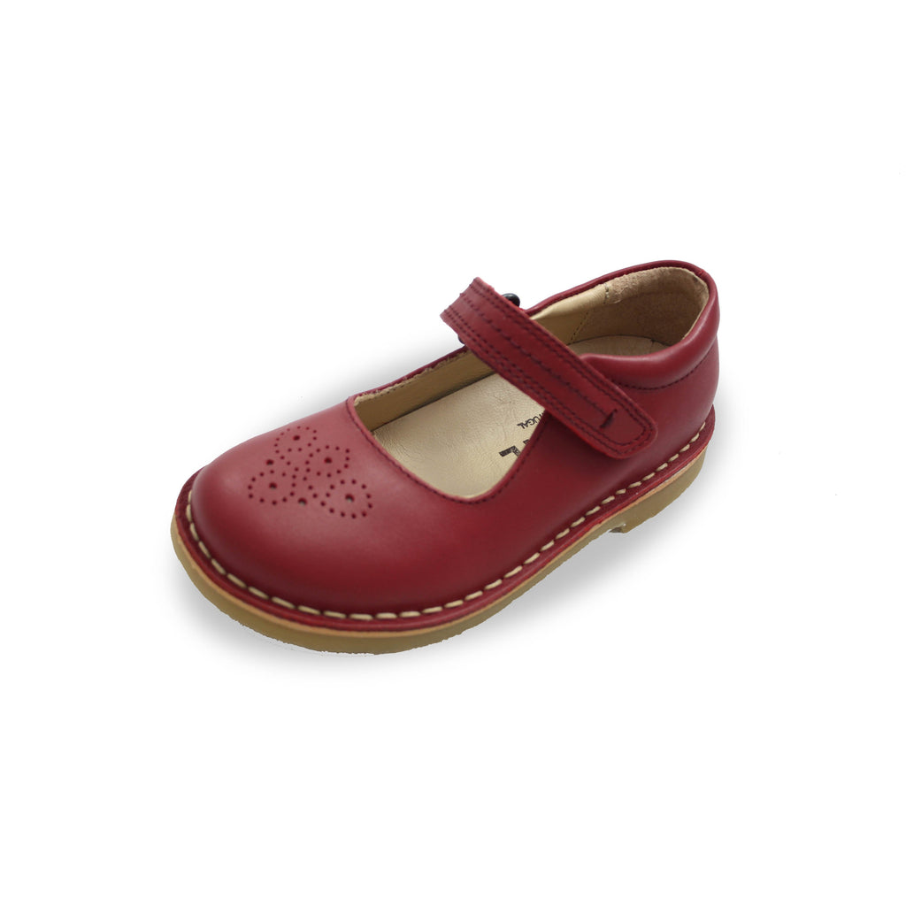 Petasil Celina Red Mary-Jane Shoes children's shoes. From Cooshoo kids shoes.