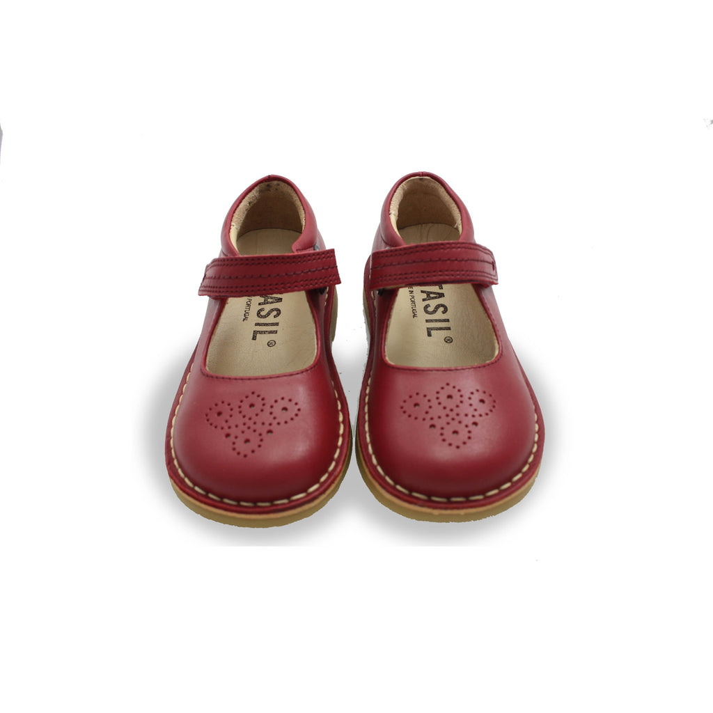 Pair of Petasil Celina Red Mary-Jane Shoes children's shoes. From Cooshoo kids shoes.