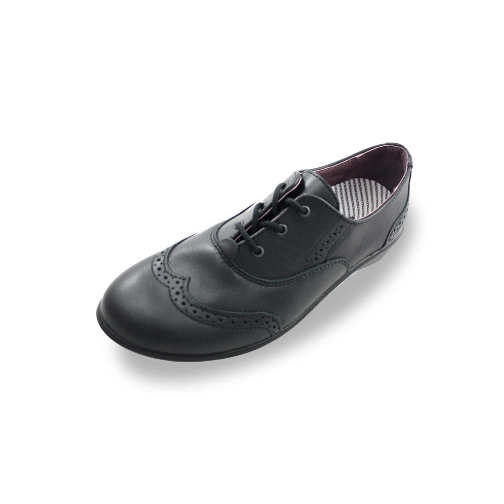 Ricosta Kate Brogue Black School Shoes. Cooshoo school shoes.