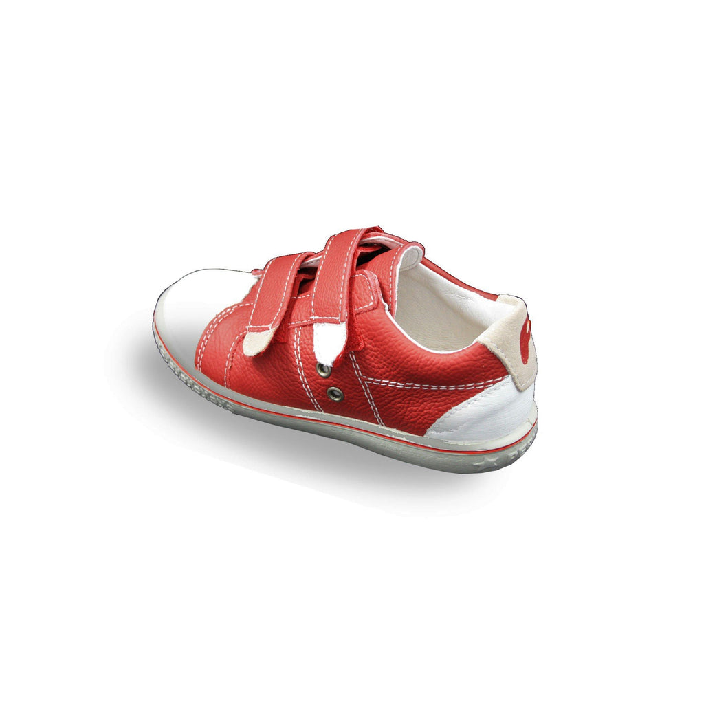 Heel of Ricosta Nippy Red Trainer Shoes. Cooshoo kids shoes.