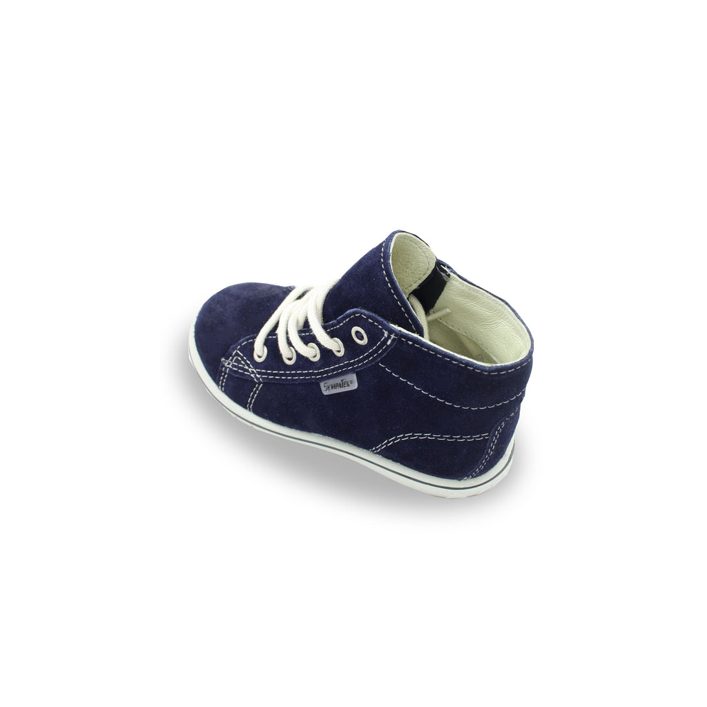 Heel of Ricosta Zayni Navy Blue  Waterproof Hi-Top Boots. Cooshoo children's shoes.