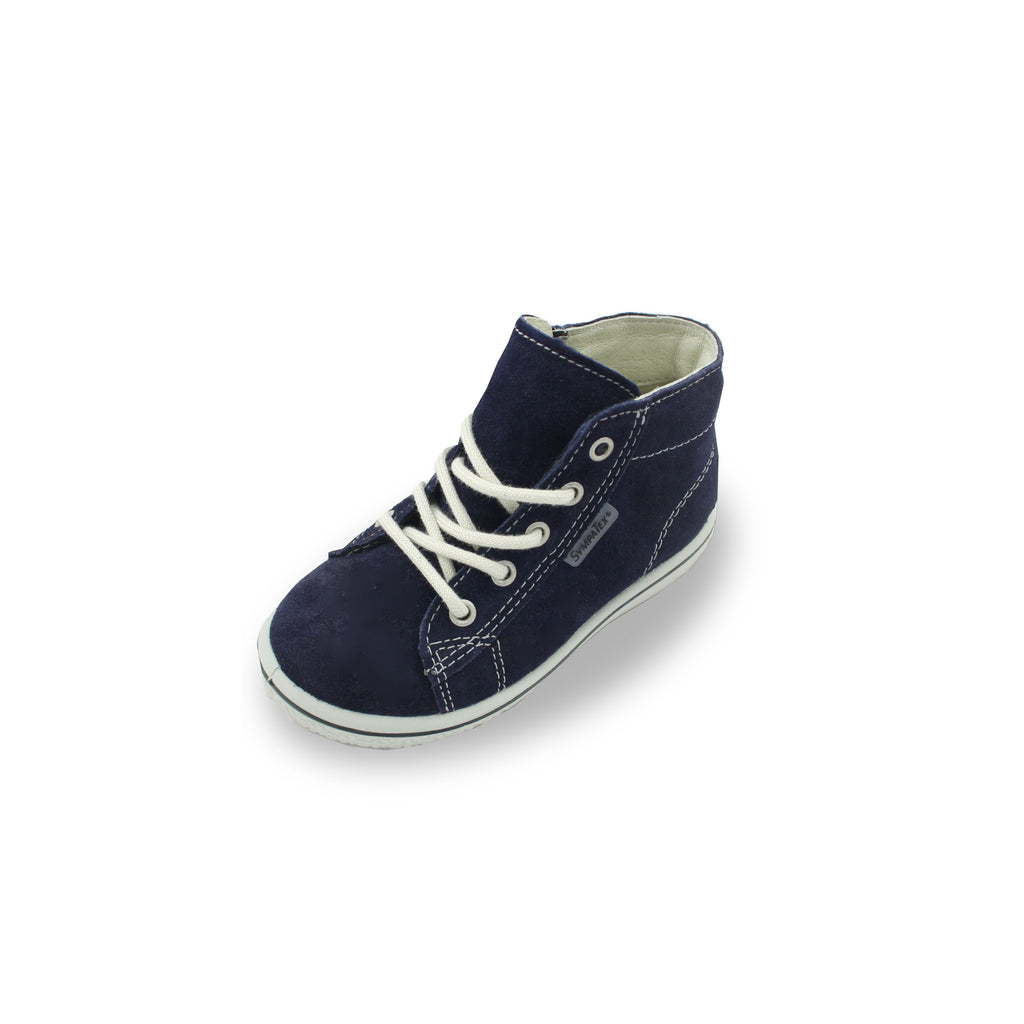 Ricosta Zayni Navy Blue  Waterproof Hi-Top Boots. Cooshoo children's shoes.