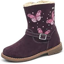 Lurchi Fiby-Tex Burgundy Waterproof Butterfly Boots. Cooshoo childrens shoes.