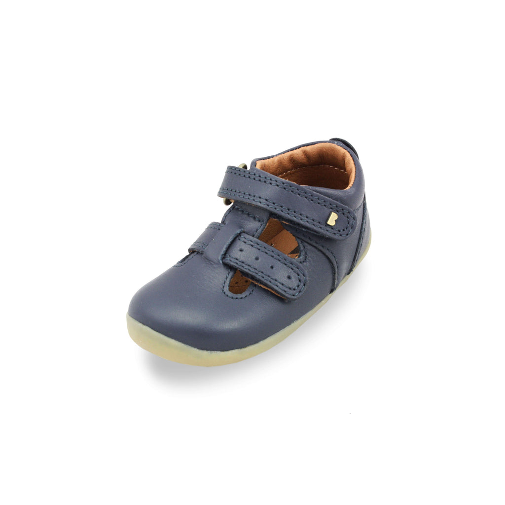 Bobux Step Up Jack and Jill Navy Barefoot Kids Shoes. From Cooshoo fitted childrens shoes.