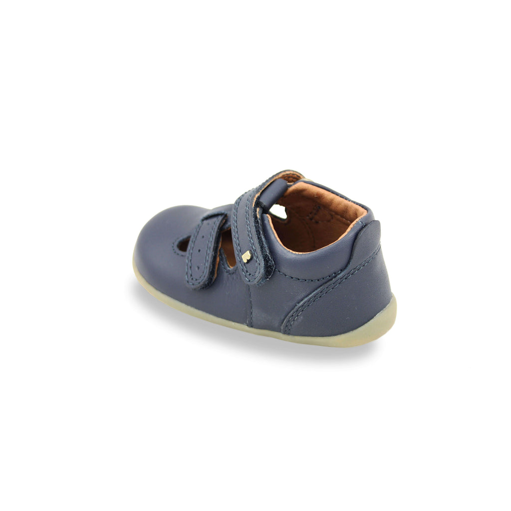Heel of Bobux Step Up Jack and Jill Navy Barefoot Children's Shoes. From Cooshoo kids shoes.