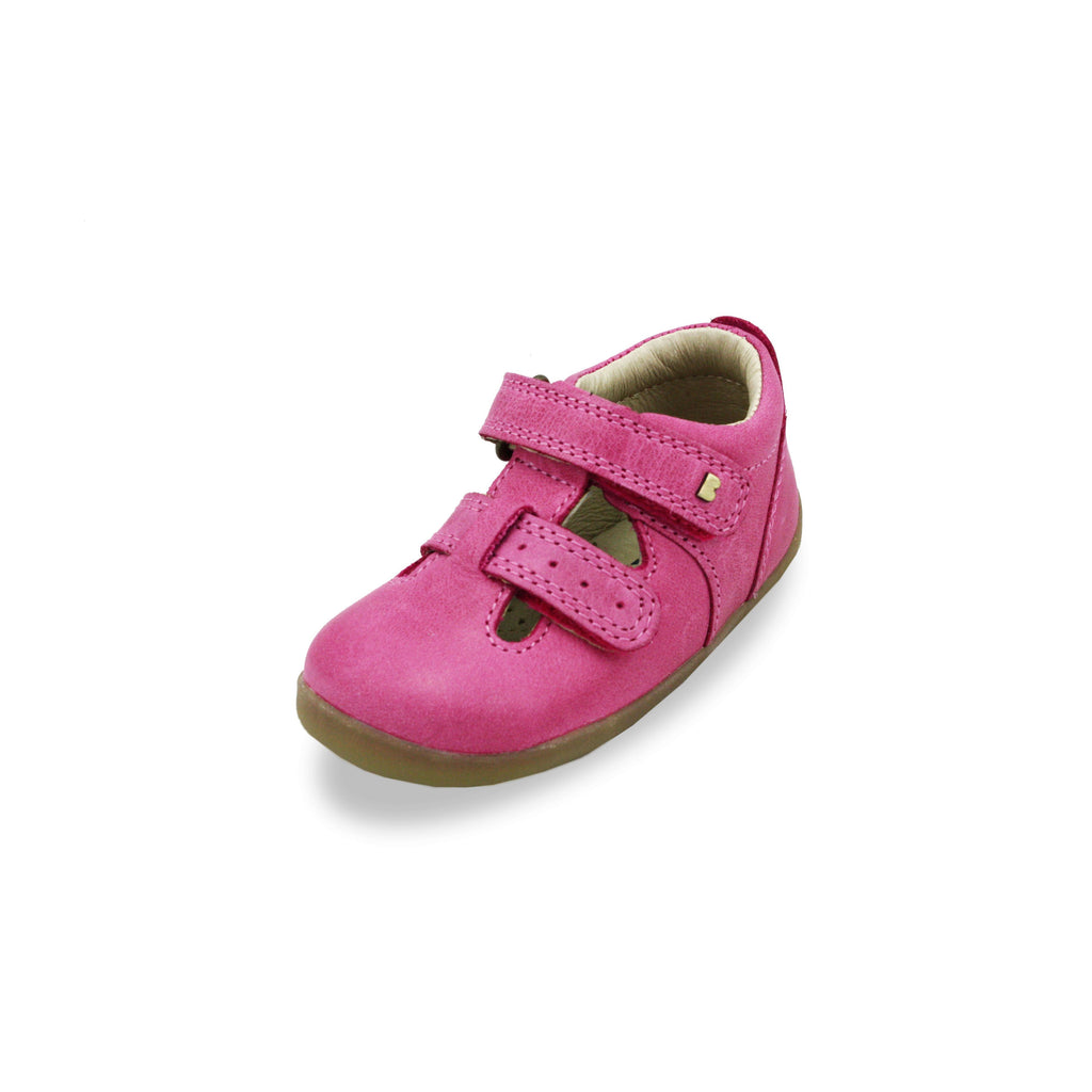 Bobux Step Up Jack and Jill Pink Barefoot Kids Shoes. From Cooshoo fitted childrens shoes.
