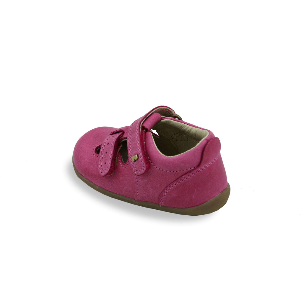 Heel of Bobux Step Up Jack and Jill Pink Barefoot Kids Shoes. From Cooshoo kids shoes.