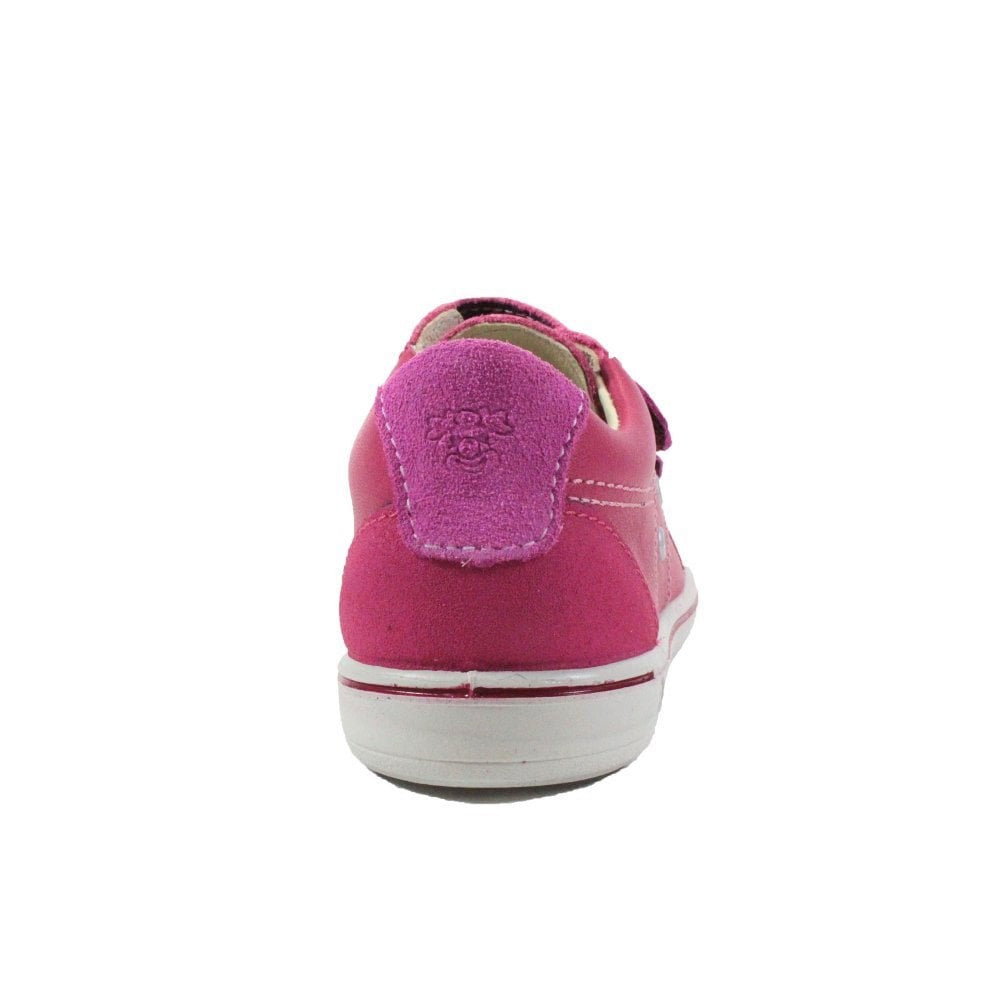 Heel of Ricosta Nippy Pink Trainer Shoe. Cooshoo kids shoes.