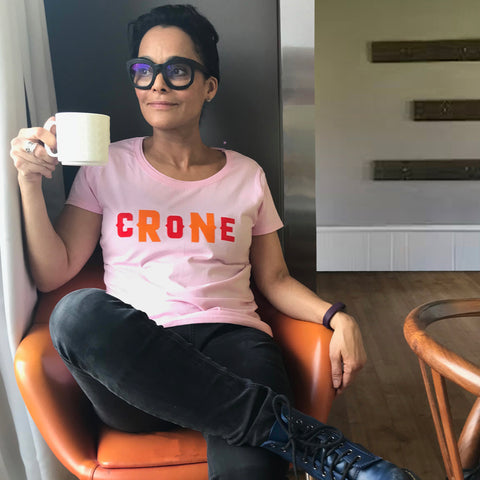 Fun Crone t shirt for confident older women