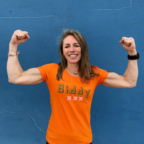 'Biddy' slogan ladies t shirt for formidable older women