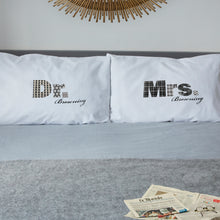 Mr / Mrs / Dr pillowcase set for married couples (black)