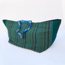 Vintage IKEA bag - African print with deckchair stripes
