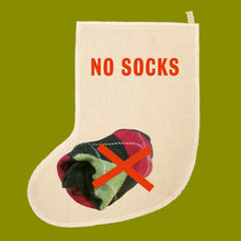 No Socks Christmas stocking