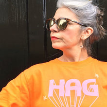'Hag' ladies slogan t shirt for glorious old biddies
