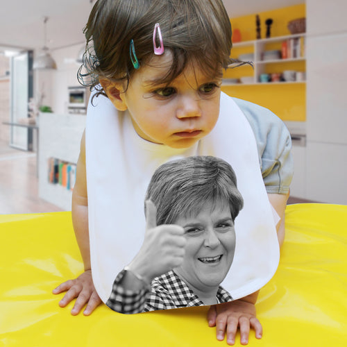 Sturgeon political baby bib