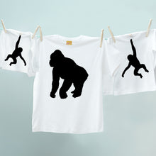 Matching dad and child Gorilla and Monkey set for parents and infants