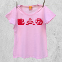 'Bag' slogan ladies t shirt for glamorous older women
