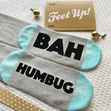 Bah Humbug Christmas socks for adults and teens
