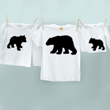 Matching Bear and Cub t-shirt set for daddy and child