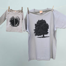 Chestnut tree and conker matching tshirts for parent and child