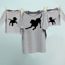 Dog and two puppies matching set for dad and twins or siblings