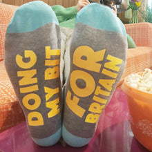 'Doing my bit for Britain' Feet Up socks - Corona Souvenir