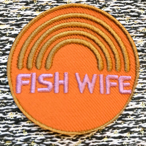 FISHWIFE iron on clothes patch from the Hag Range