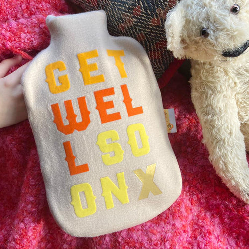 Get Well Soon hot water bottle