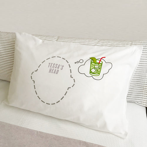 Gin and Tonic dream bubble Headcase pillowcase