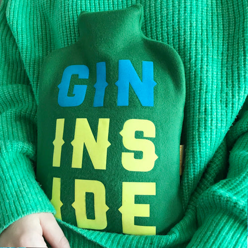 Gin Inside Hot water bottle