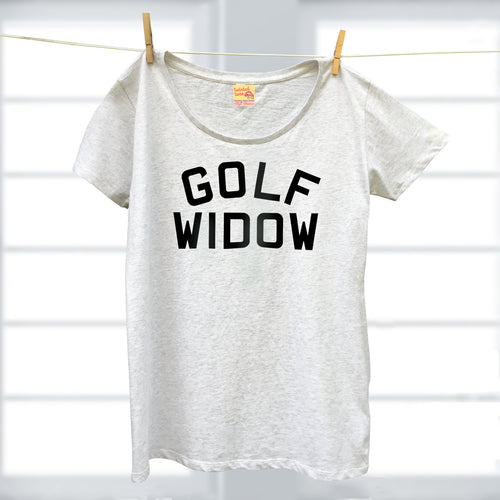 Golf Widow ladies organic t shirt for sport's fan