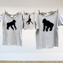 Matching family Gorilla t shirt set for mum, dad and little monkey
