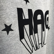 Entire Hag range  - black flock on grey organic clothing