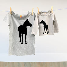 Mummy horse and baby foal t shirt set