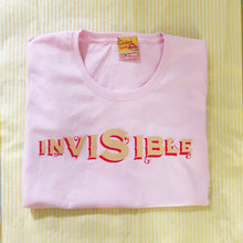 'Invisible' slogan t shirt for shining old women