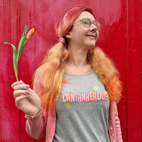 'Cantankerous' slogan t shirt for wonderful older women