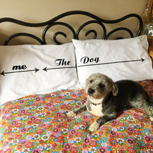 Dog lovers' pillowcase set for dogs and their owners