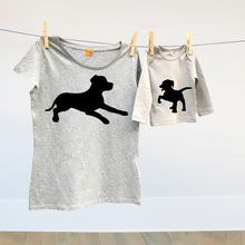 Mummy and child dog t shirt twinset