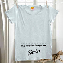 My lap belongs to my cat - personalised t shirt for a crazy cat lady