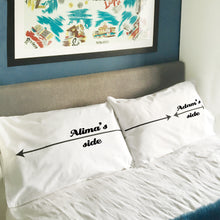 personalised My Side / Your Side pillowcase set for couples