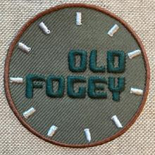 OLD FOGEY iron on clothes patch from the Hag Range