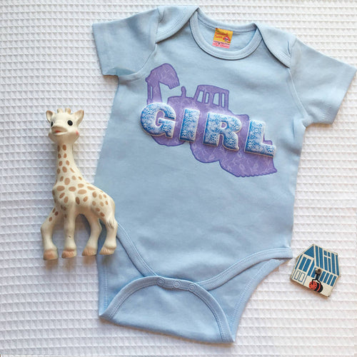 Gender Fluid babygrows for blue girls