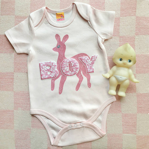 GLBT Gender Fluid babygrows for Pink Boys