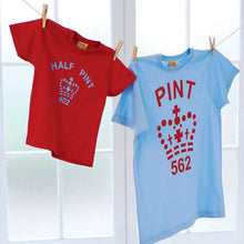 Famous Pint and Half Pint Twinset for parents and children (red  / blue)