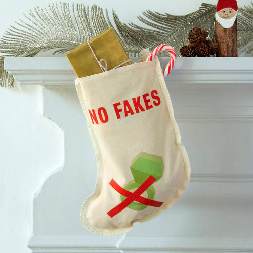 No Fakes Christmas stocking