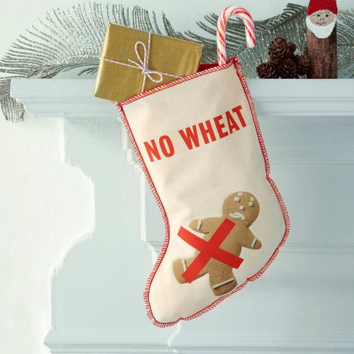 No Wheat Christmas stocking